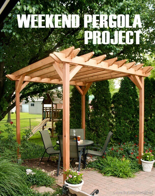 Backyard Getaway Pergola Project