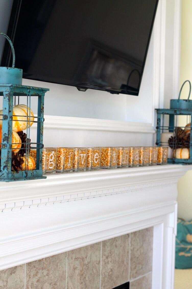 Harvest-Inspired Etched Glass Jars