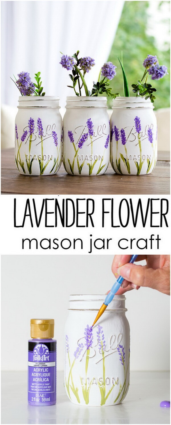 Easy Lavender Flower Painting Idea