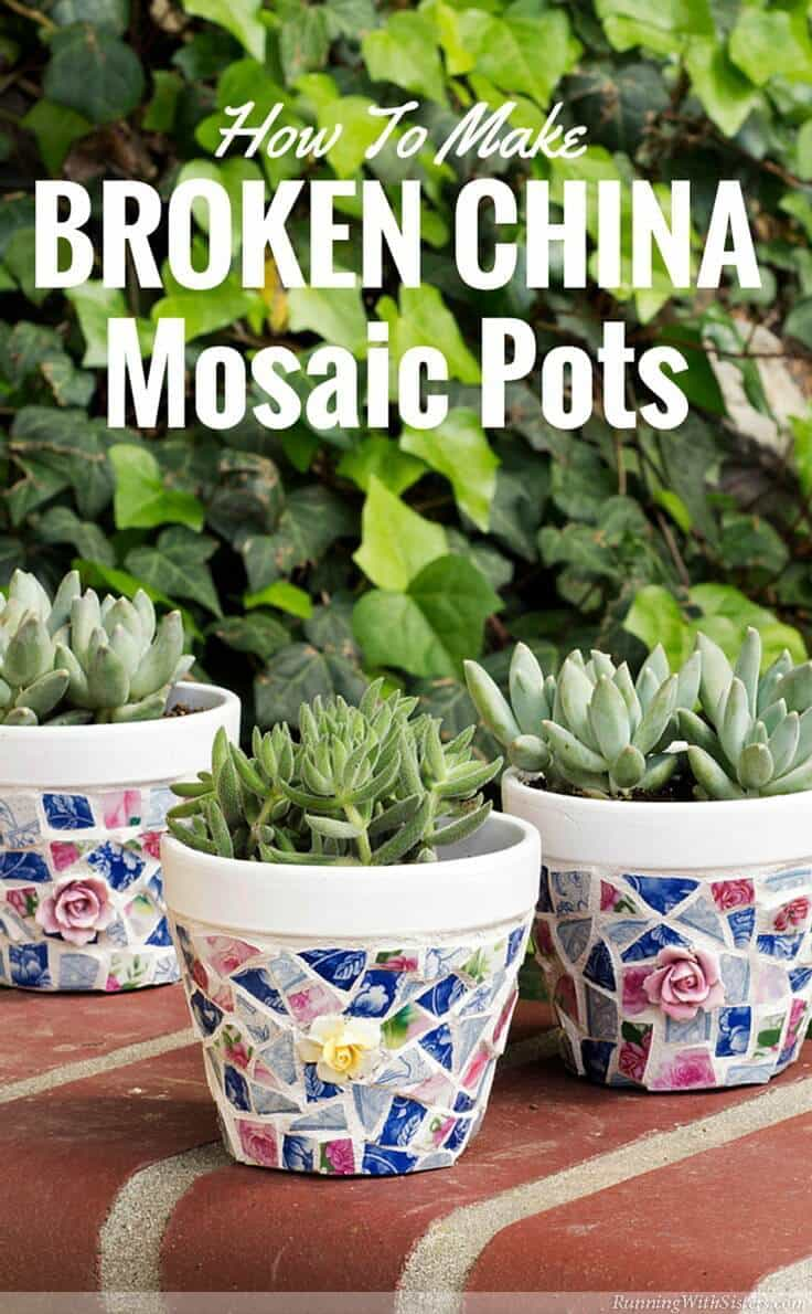 Cover Flower Pots with Broken China