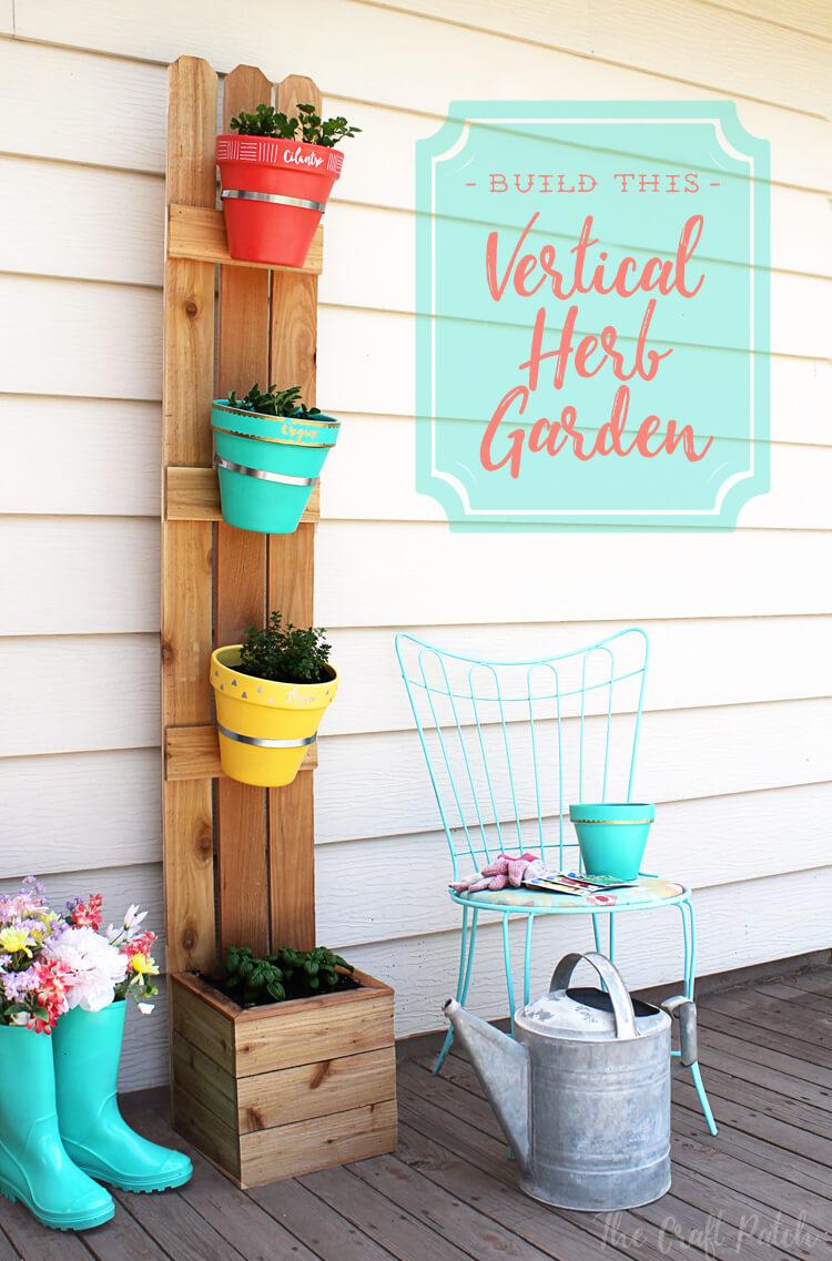 Easy 3-Plank Hanging Herb Garden
