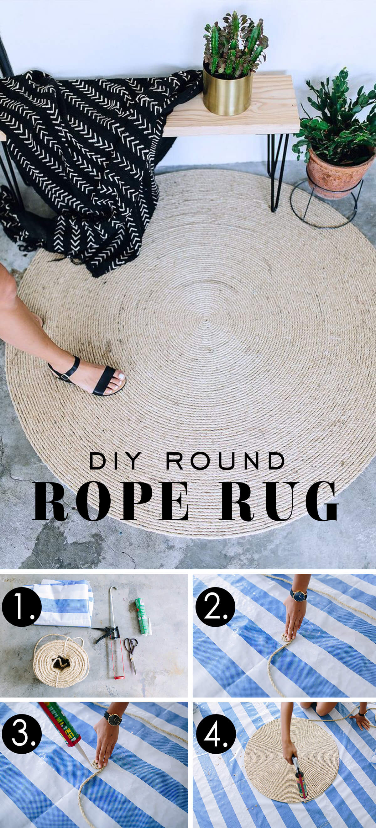 Easy Twine Round Rug Project