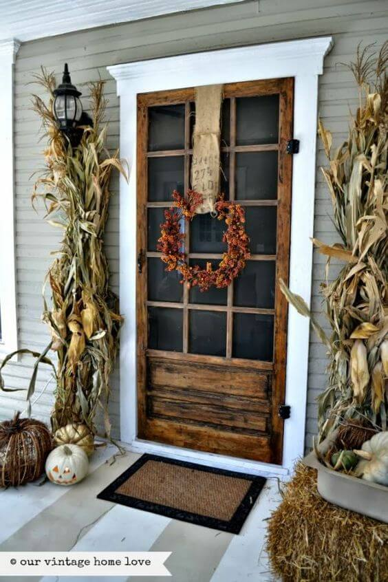 Rustic Styled Farmhouse Front Door