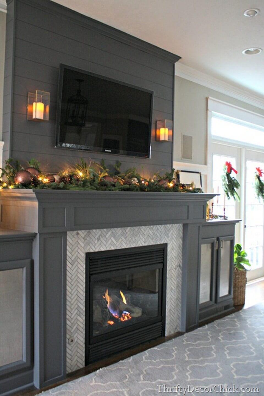 Herringbone Tile and Grey Ignites Delight