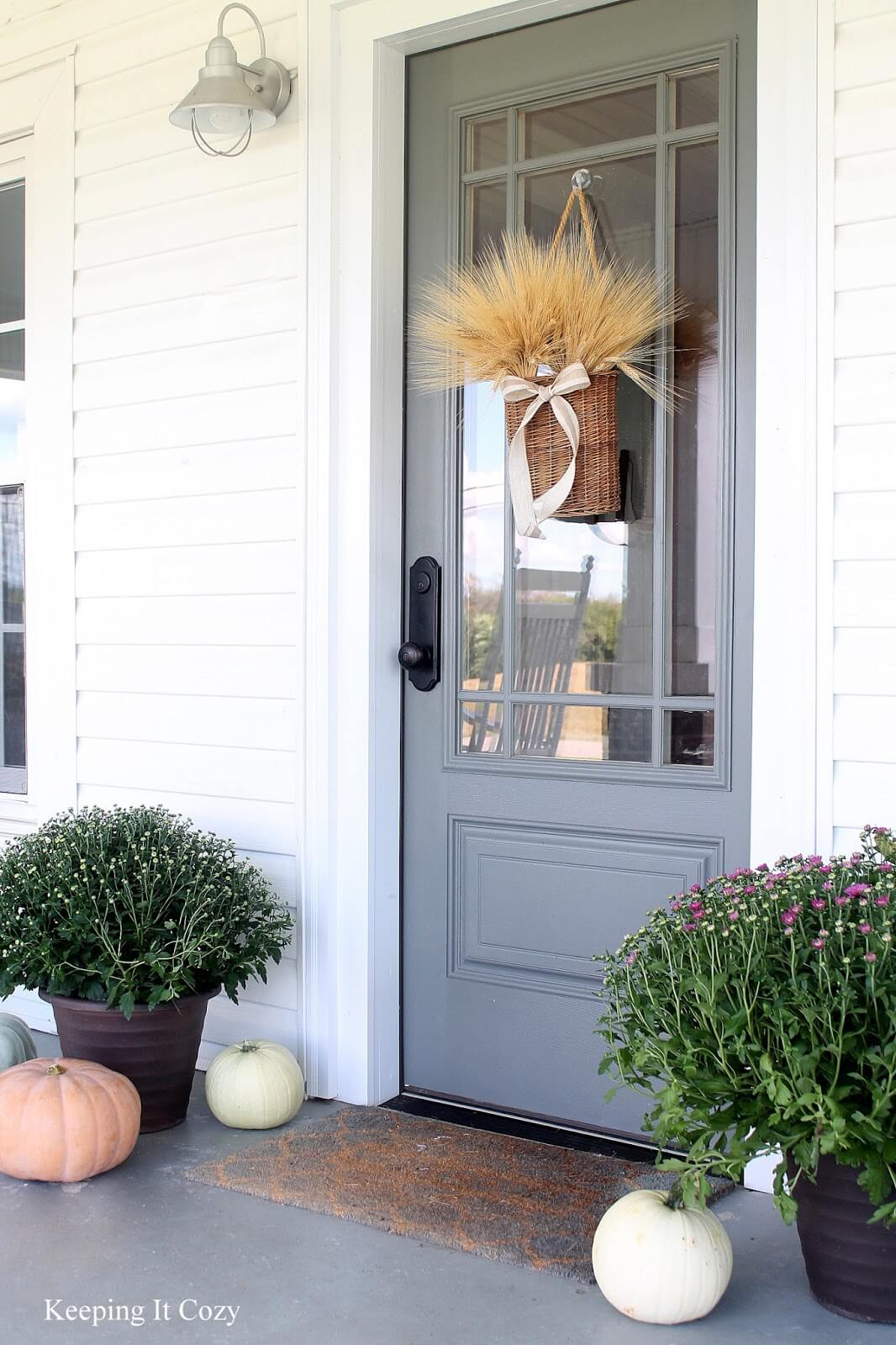 Elegant Neutrals as a Front Door Foundation