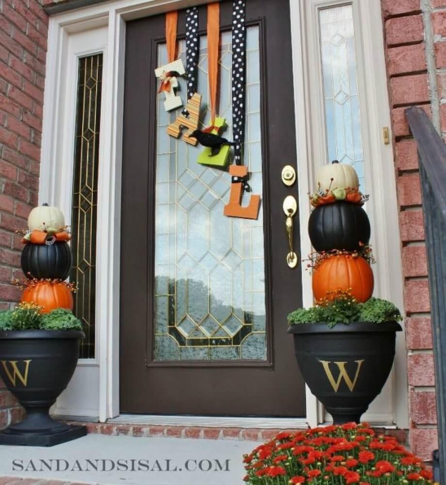 "Wood Letter ""Fall"" Door Sign"