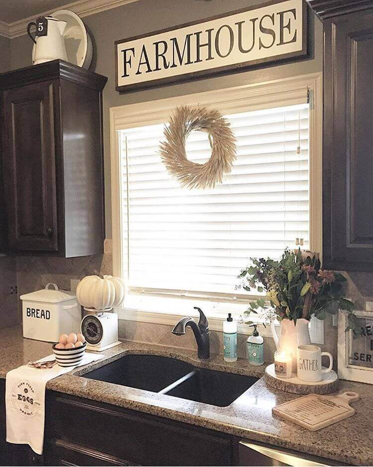 Simple Upper Case Farmhouse Sign