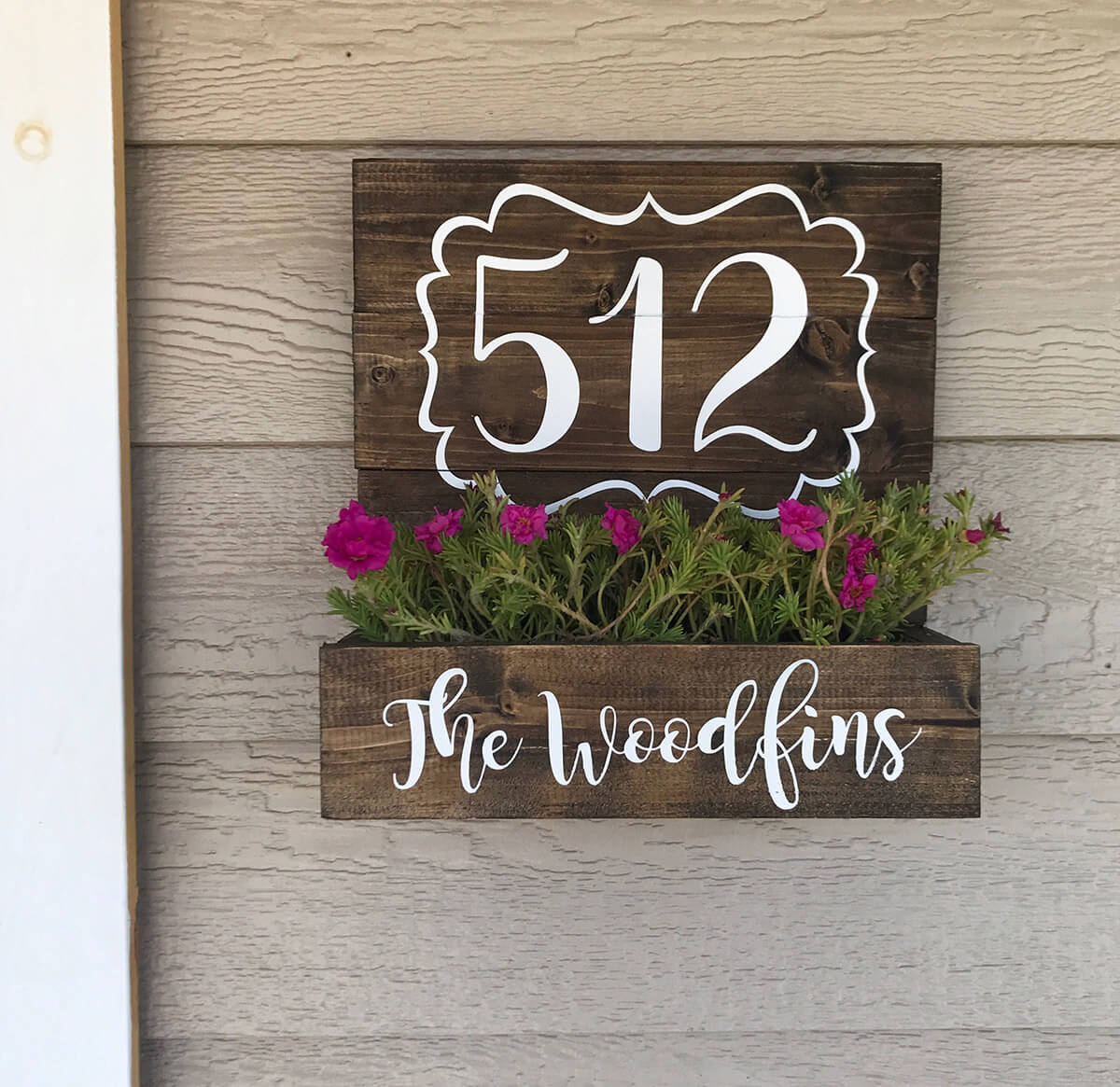 Cute Planter Box with House Numbers