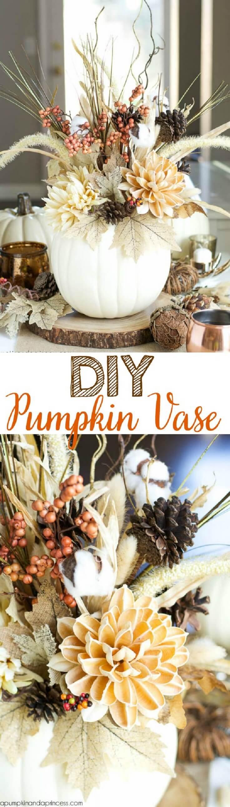 Pumpkins Make Great Vases