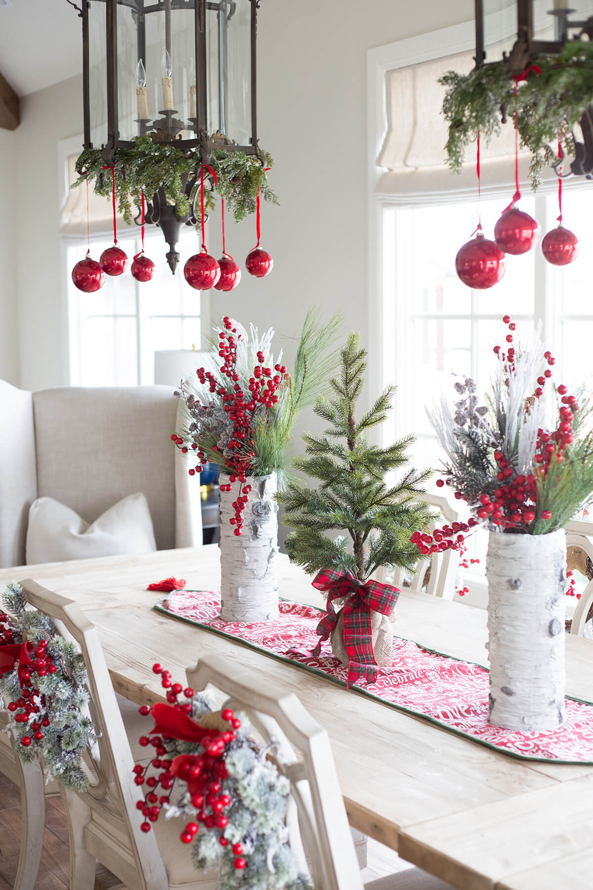 Berries Galore and Ornament Chandeliers