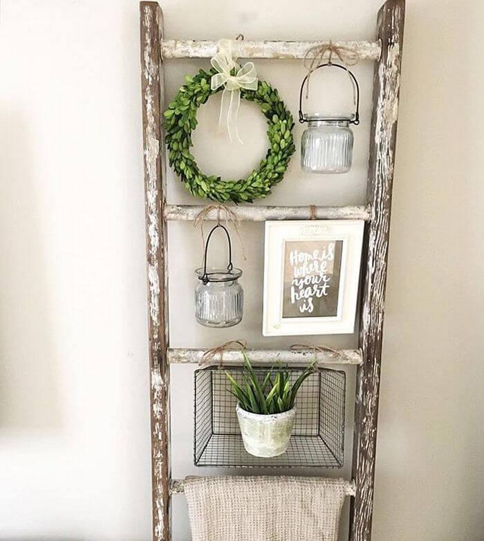 Shabby Chic Hanging Plant Display