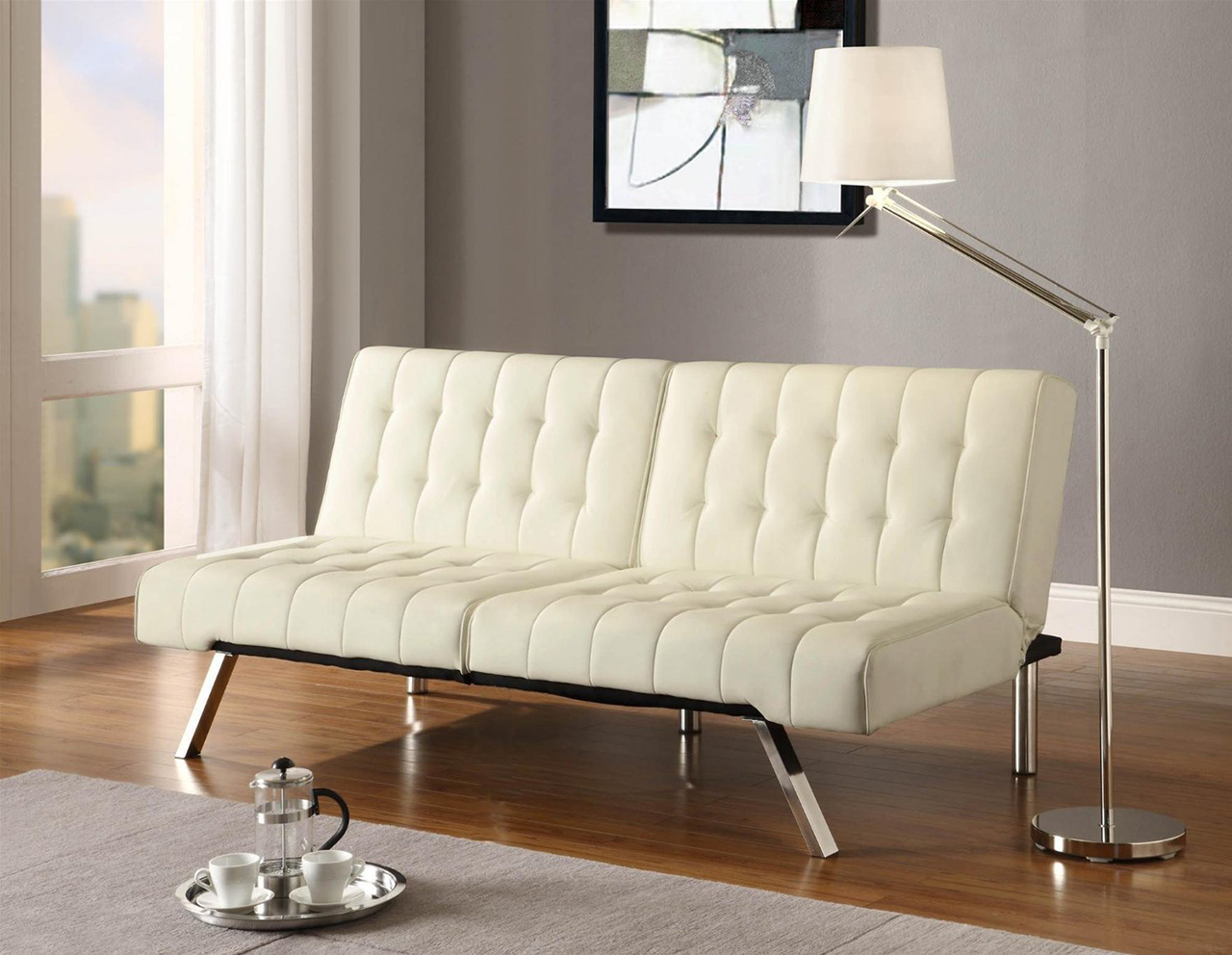 DHM Convertible Sofa in Vanilla