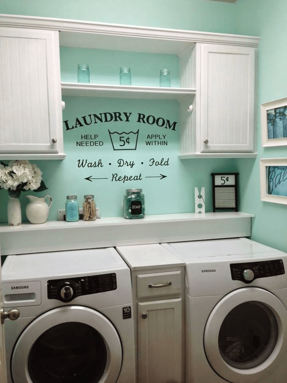 Rustic Retro Laundry Room Concept