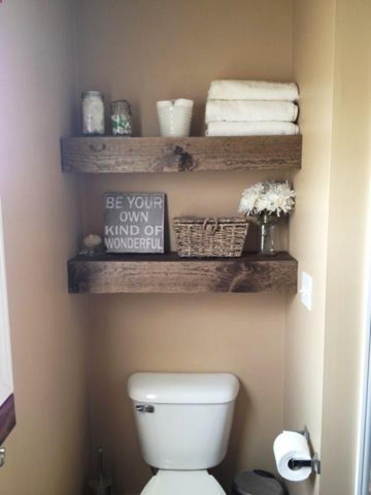 Floating Pallet Shelves for Storage and Design