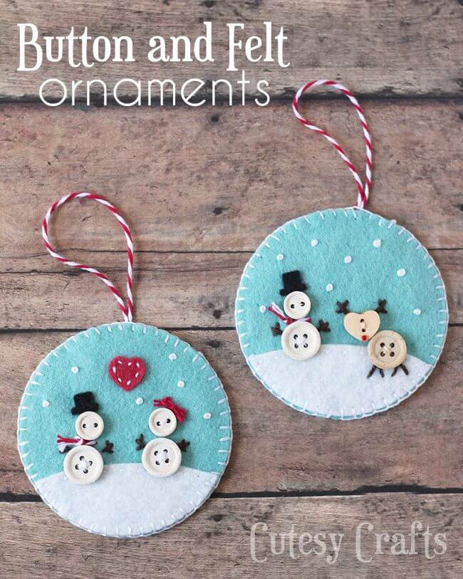 Felt and Button Ornament
