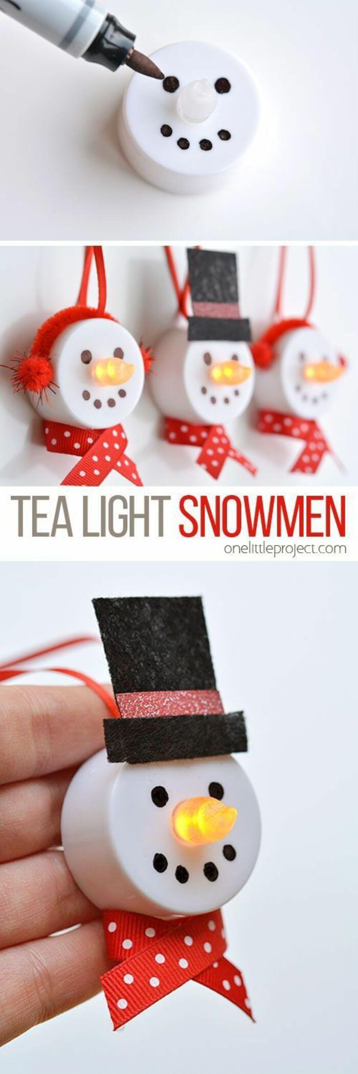 Frosty the Battery Powered Tea Light Snowman