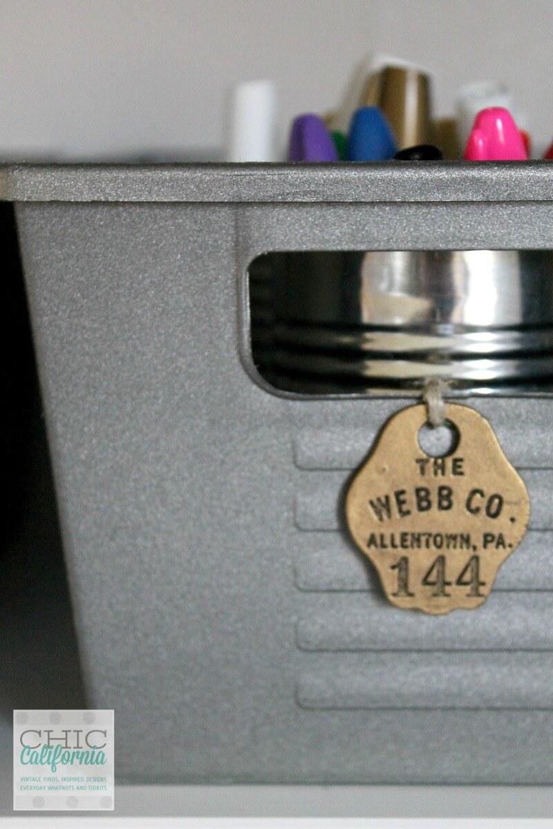 Faux Metal Locker-Inspired Storage Bins