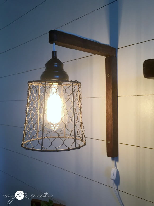 Farmhouse Wire Basket Sconce Lights