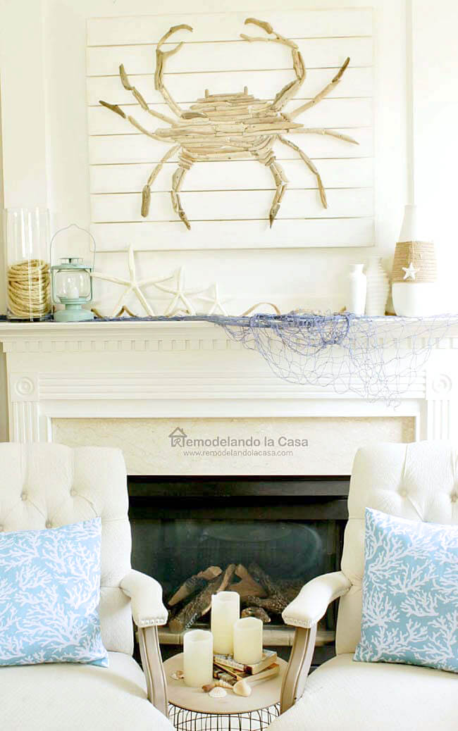 Cute Nautical Theme DIY Driftwood Artwork