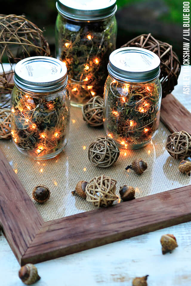 String Lights Table Jar Lamp