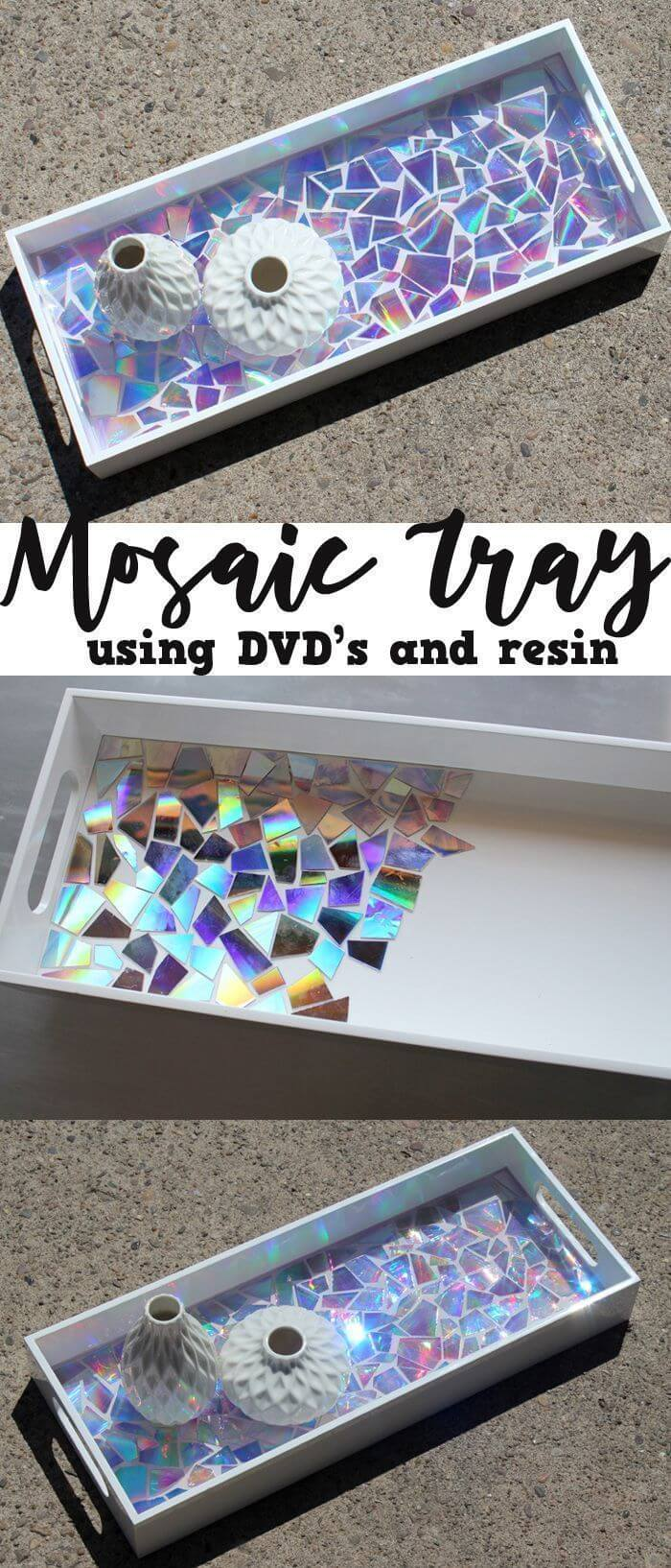 Inventive Use of DVDs in a Mosaic