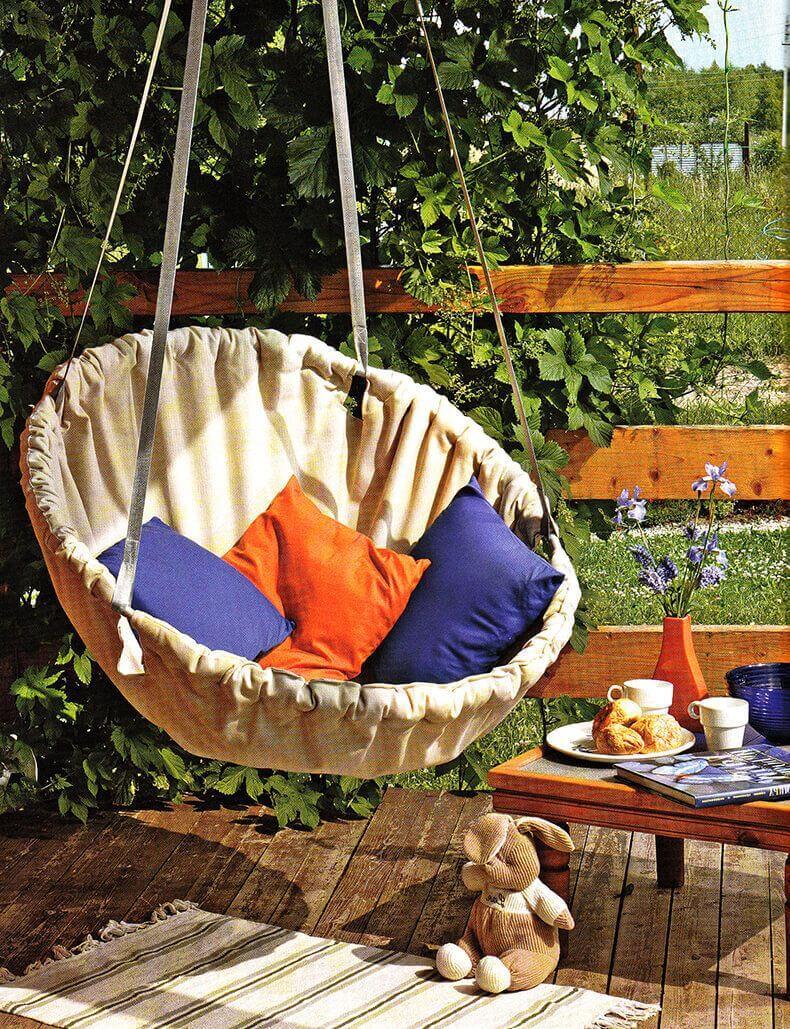 Summer Splendor Basket Swing