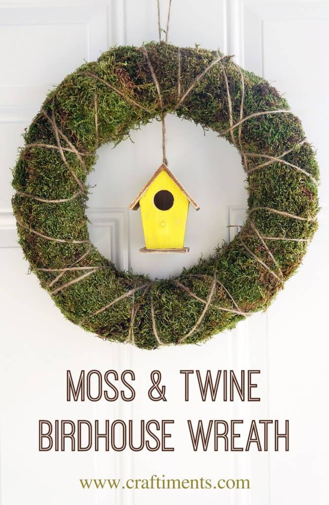 Adorable Birdhouse Wreath with Moss
