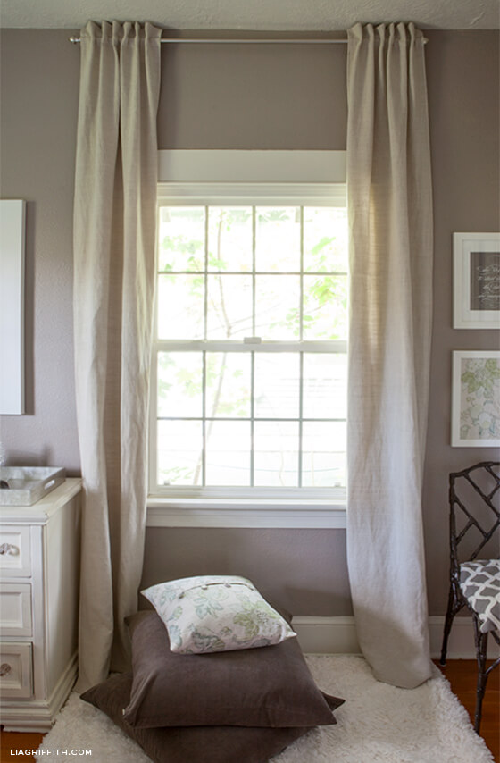 Easy and Pretty Back Tab Curtains