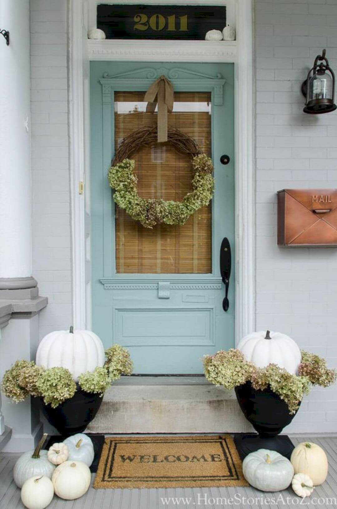 Parisian Styled Pastel Blue Front Door