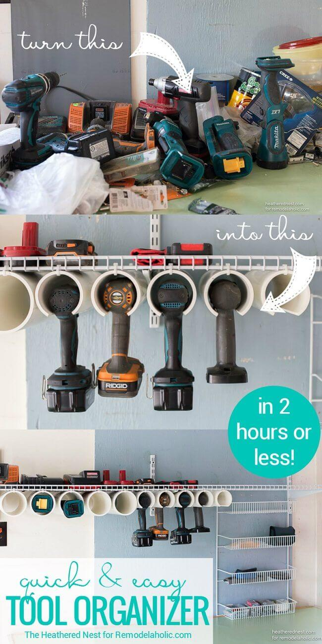 PVC Pipe Power Tool Caddy