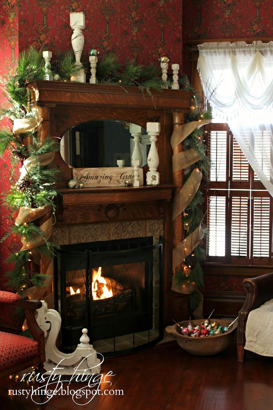 Amazing Grace Near the Fireplace