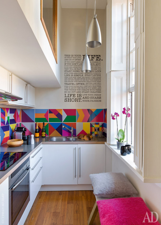 A Very Narrow Space Becomes Larger Than Life With Bright Hues