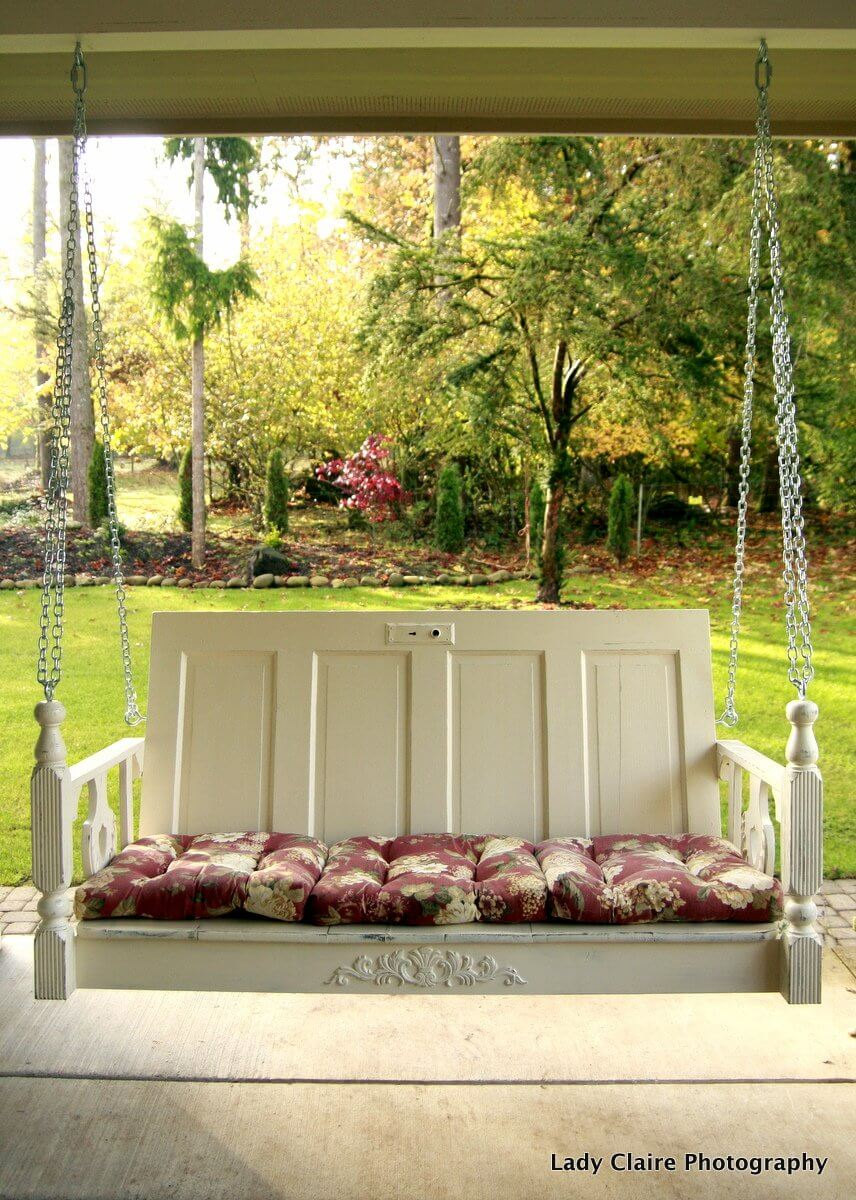 Build a Porch Swing with Old Doors