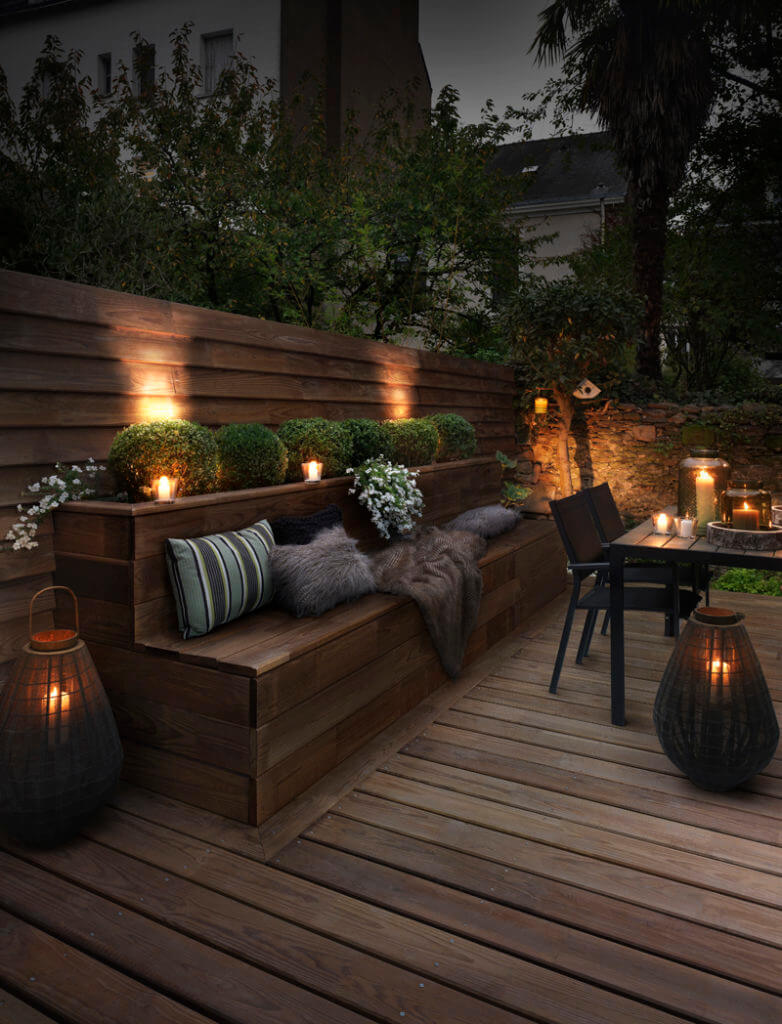 Couple Recessed Lighting and Candles for a Mellow Vibe