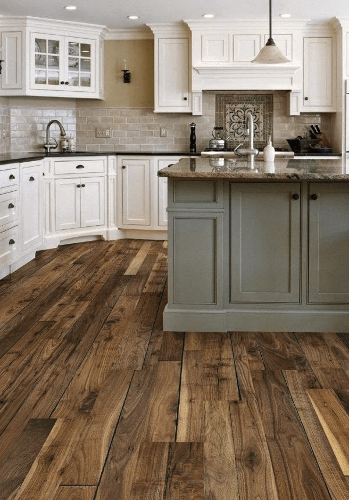 Pacific Northwest Wood-Laid Kitchen