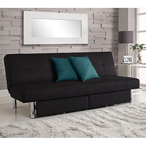 Sleeper Sofa - DHP Sola Convertible Sofa with Storage in Black