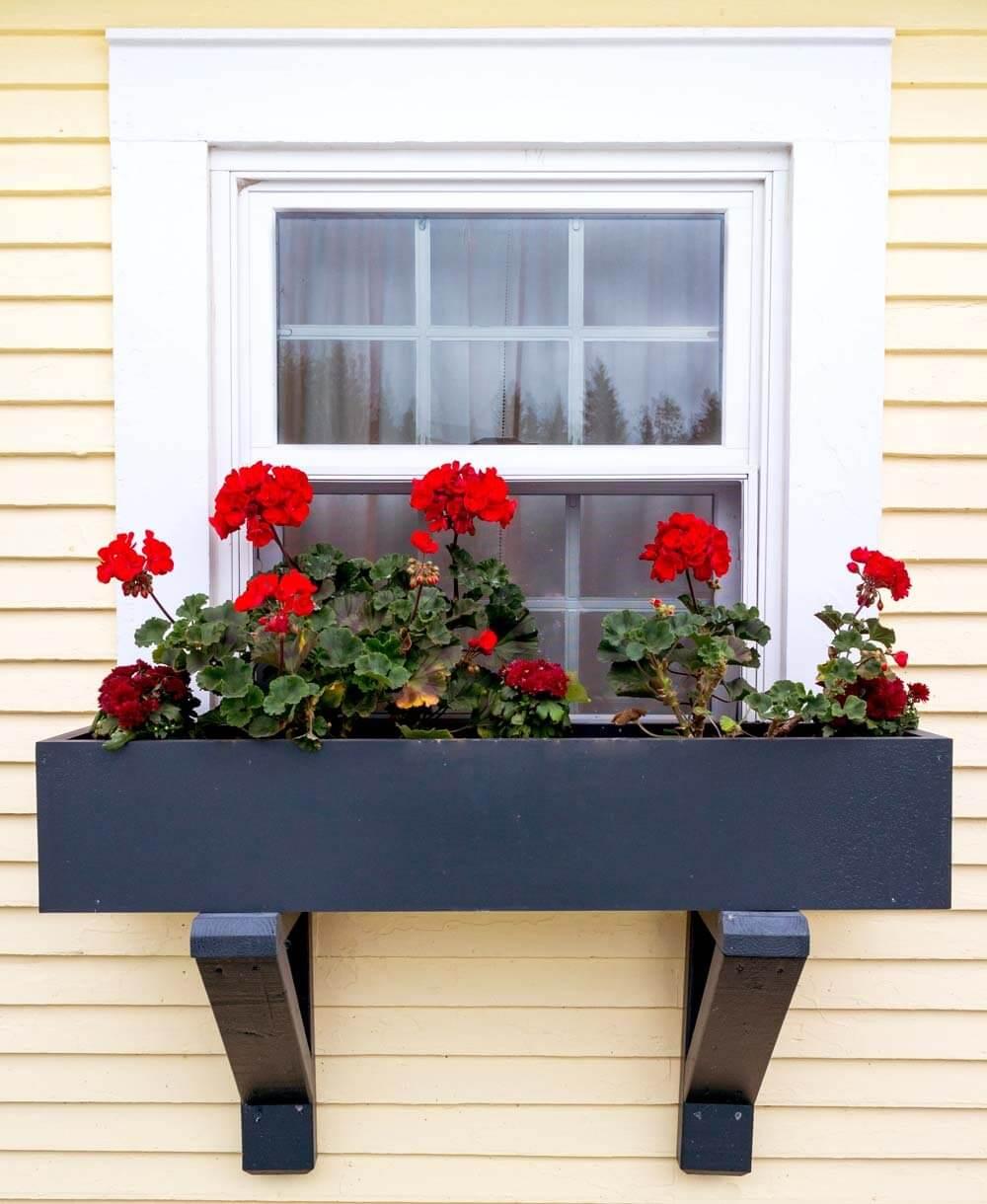 Wooden Window Box With Black Semigloss Finish