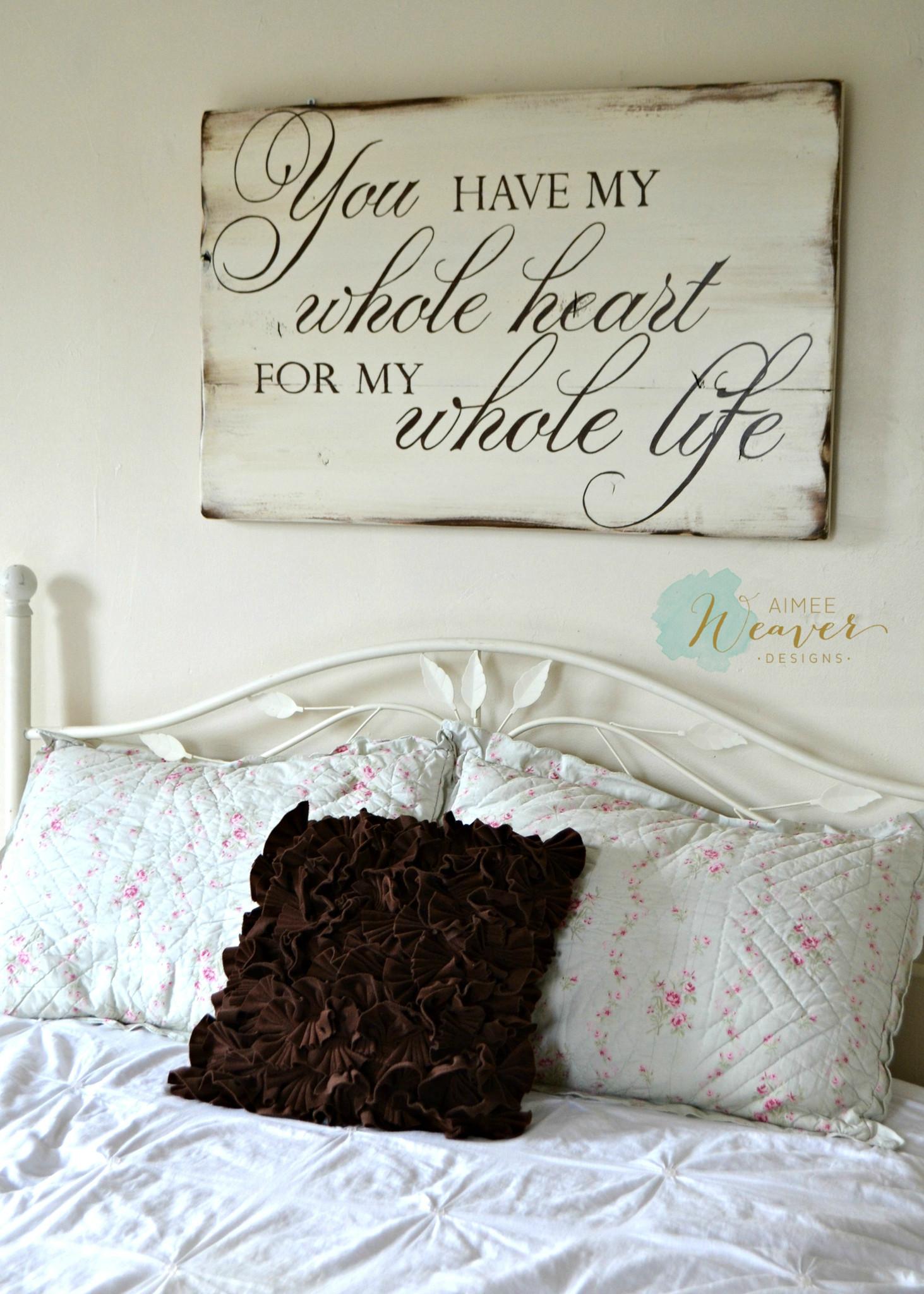Whitewashed Romantic Wall Hanging