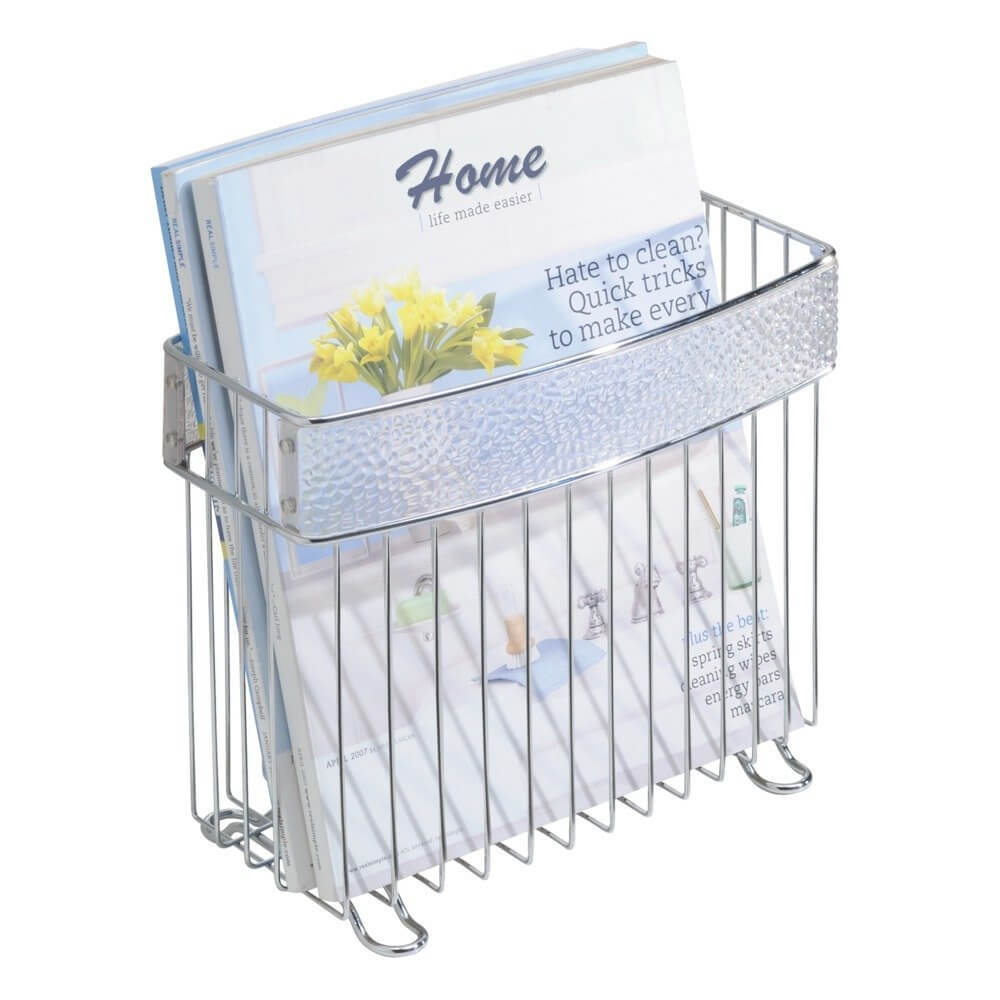 Freestanding Chrome Bathroom Magazine Rack