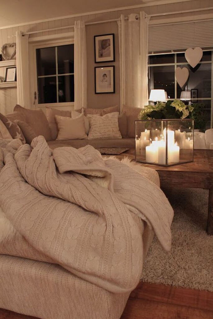 Beauty and the Beige Living Room Design