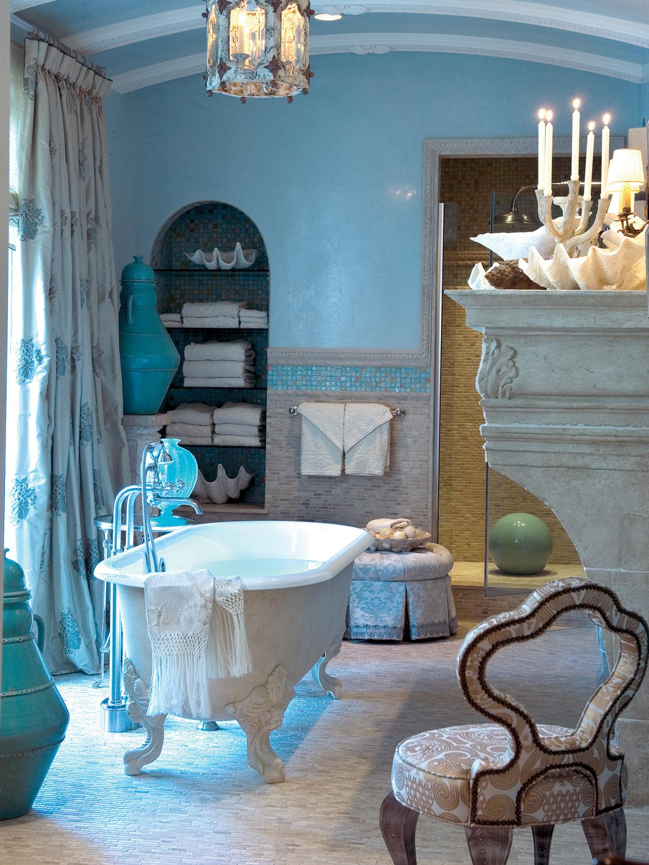 Blue Coastal Bathroom