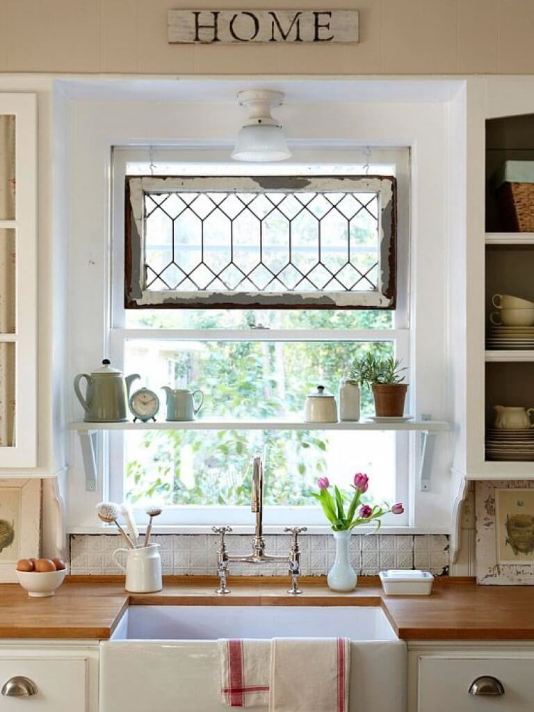 Antique Window Decoration Cottage Kitchen