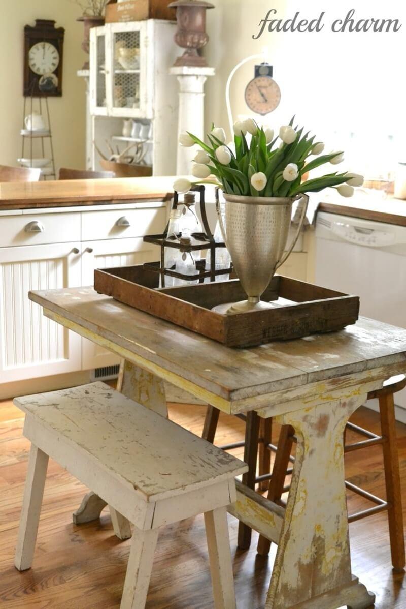 Farmhouse Tray with a Tall Vase