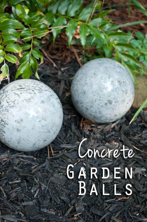 Backyard DIY Concrete Garden Balls