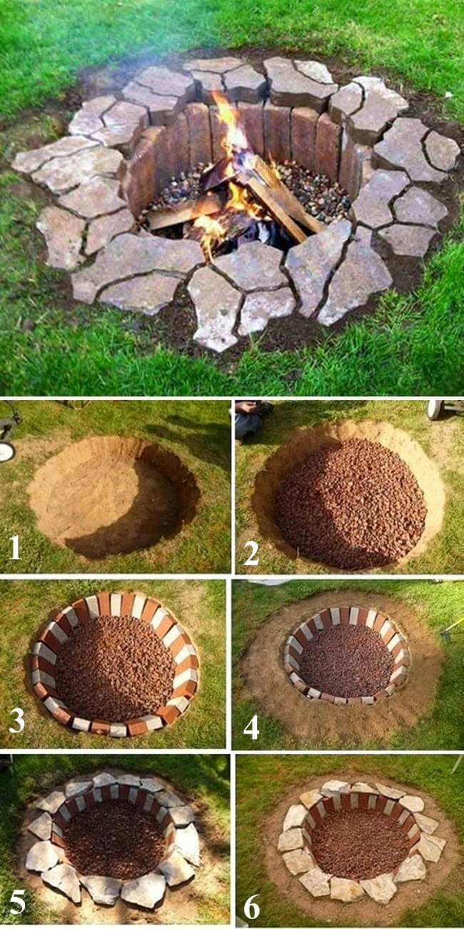 Rustic Druidic DIY Fire Pit
