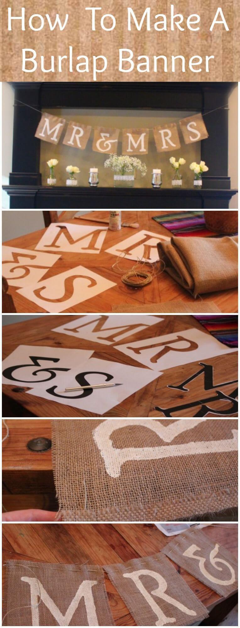 Festive Lettered Burlap Banner