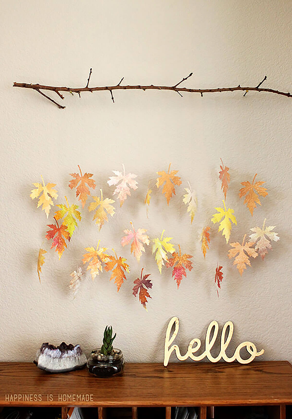 Wall-Hanging Rustic Falling Leaves Mobile