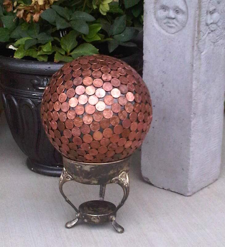 Cover a Metal Ball with Pennies