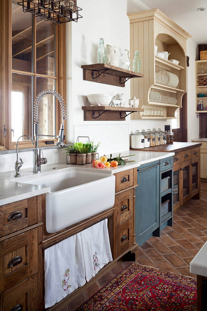 Vintage Victorian Farmhouse Kitchen Cabinets