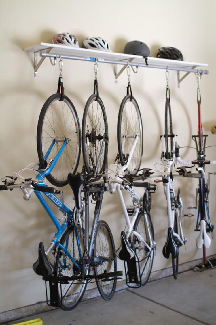Garage Organization Project for Bicycles